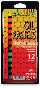 Gallery Oil Pastel, thickness 1 cm, L: 7 cm, neon colours, neon, 12asstd by ()