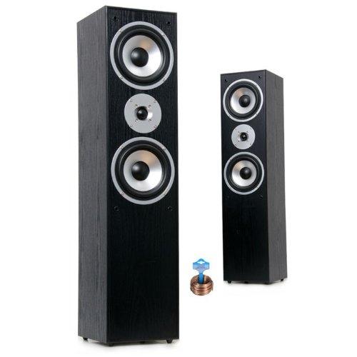 500W Paar Lautsprecherboxen LB 4711 schwarz 25m Kabel HIFI-45