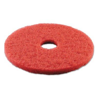 Boardwalk 4015RED Standard 15-Inch Diameter Buffing Floor Pads, Red
