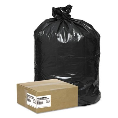 Handi-Bag Super Value Pack Contractor Bags, 42 gal, 2.5 mil, 33 x 48, Black, 50/Carton