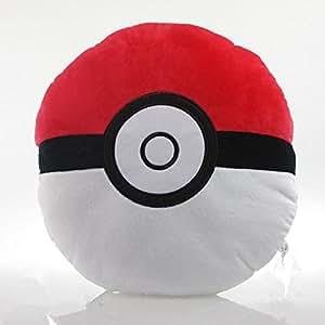Amazon.com: Pokemon Pokeball Pillow Plush Soft Cushion Toy Poke Ball: Toys & Games