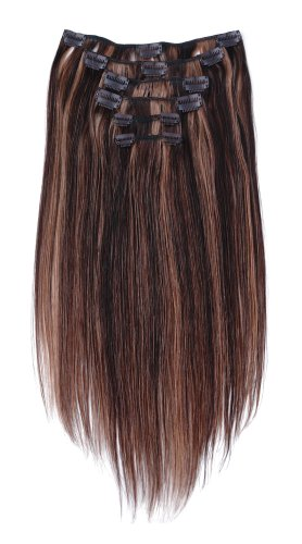 "Tressecret Six Piece 18"" Clip-in Human Hair Extension Kit, Frost Honey Blonde"