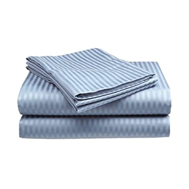Millenium Linen Queen Size Bed Sheet Set, Light Blue, 1600 Series 4 Piece, Deep Pocket, Cool and Wrinkle Free, 1 Fitted, 1 Flat, 2 Pillow Cases