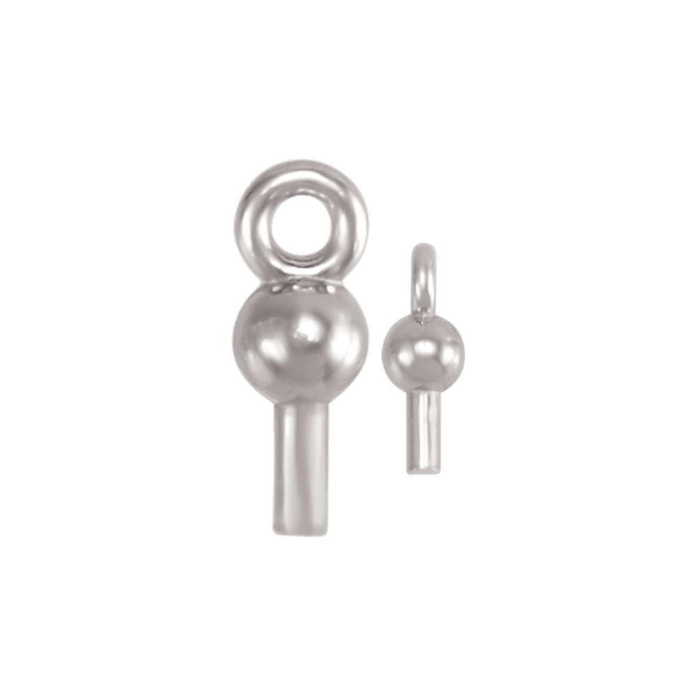 Dangle With Post in 14K White Gold