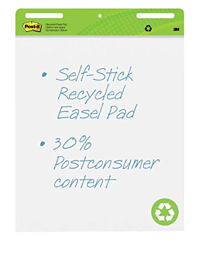 Post-it Super Sticky Easel Pads, 25'' x 30'', 30% Recycled, White, Pack of 2 Pads by Post-it (Image #2)