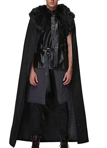 [PerfectCosplay Cool Knights Watch Cosplay Costume for Adult and Child Men's XXS] (Man Of The Nights Watch Costume)