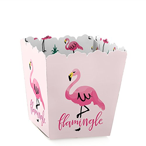 Pink Flamingo - Party Like a Pineapple - Tropical Summer Party Mini Favor Boxes - Treat Candy Boxes - Set of 12