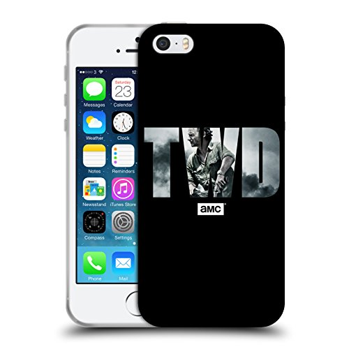 Officiel AMC The Walking Dead Portrait Logo Étui Coque en Gel molle pour Apple iPhone 5 / 5s / SE