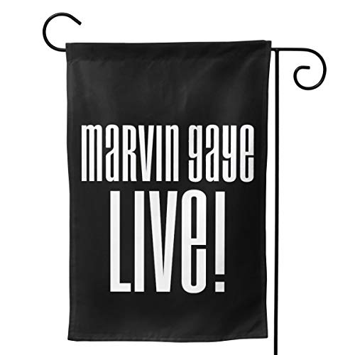 - LIKUNMIN Marvin Gaye Logo Seasonal Garden Flags 27