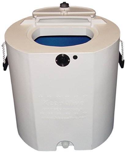 Keepalive Round Tank, 30-Gallon, White and Blue