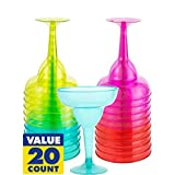 Cinco De Mayo Plastic Margarita Glasses, Assorted