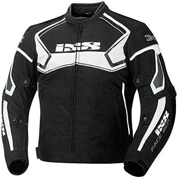 IXS Men's Motorcycle Textile Jacket (Black/White, XX-Large)