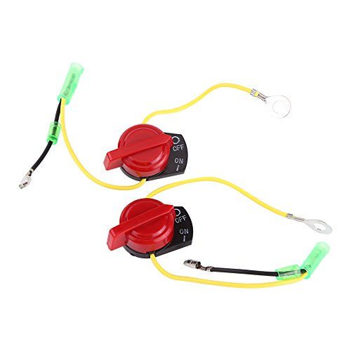 - 2pcs Motorcycle Engine Stop Switch, Keenso Engine Stop Kill Button On Off Switch Replacement for Honda GX120 GX160