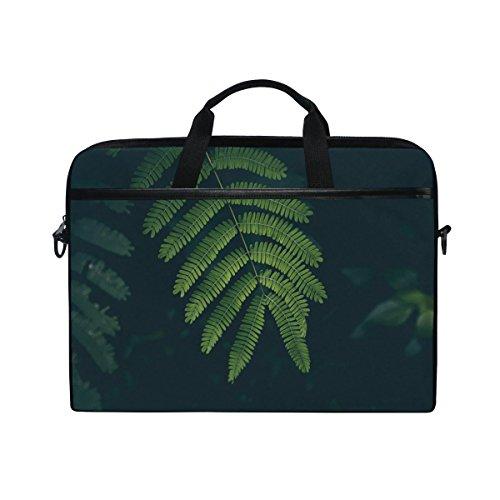Green Sleeve Laptop Leaf (Rh Studio Laptopbag Fern Leaf Plant Green Laptop Shoulder Messenger Bag Case Sleeve For 14 Inch To 15.6 Inch With Adjustable Notebook Shoulder Strap)