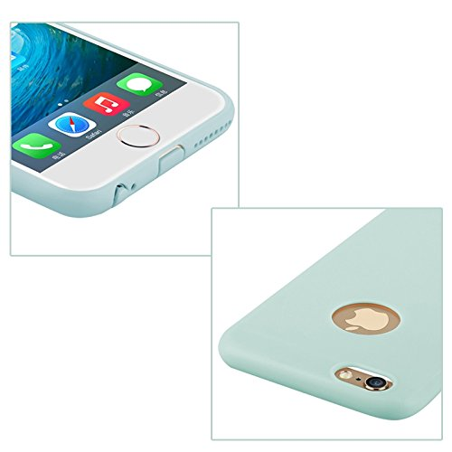 Baseus Mousse Case Series / Softcase aus TPU Ultra-Dünn / Slim / Schutzhülle für Apple iPhone 6 Plus & 6S Plus in Babyblau Türkis Art