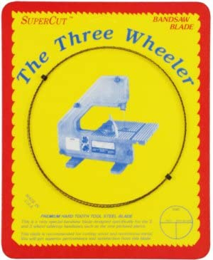 1//4 Width; 6 Hook Tooth; 0.014 Thickness SuperCut B70W14H6 Three Wheeler Bandsaw Blades 70 Long