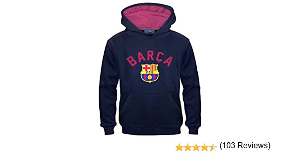 FC Barcelona - Sudadera oficial con capucha - Para niño - Con el ...