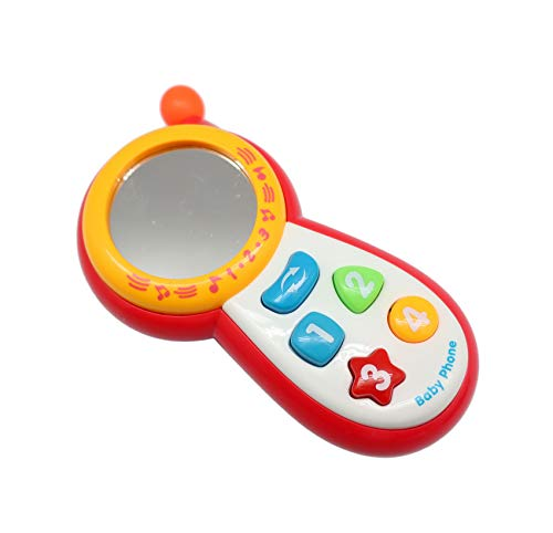 Cell Phone Toys for 1-Year-Old Baby, Suitable for Boys & Girls | Includes Mirror, Lights, Music, Sounds, Learn Numbers, Colors & Shapes Recognition | Boost Fine Motor Skills & Learning Development
