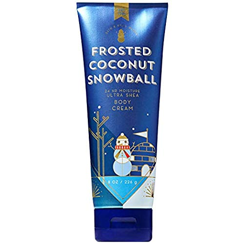 Bath and Body Works FROSTED COCONUT SNOWBALL Ultra Shea Body Cream 8 Ounce (2018 Edition) (Touch Butter Body)
