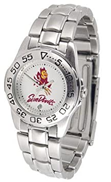 Arizona State University Ladies Stainless Steel Wristwatch by SunTime