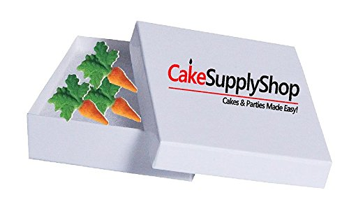 CakeSupplyShop Carrots Edible Sugar Decorations for Cakes and Cupcakes/Food Decorations 16 count