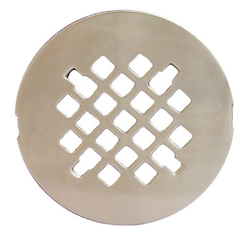 Plumbest D40-010 4 1/4'' Snap-in Replacement Shower Drain Strainer, Satin Nickel by Jones Stephens