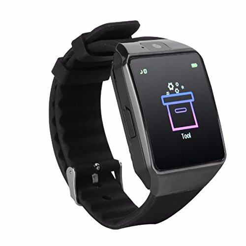 Bluetooth Smart Watch Touchscreen with Camera, TechFaith G12 Unlocked Watch Cell Phone with Sim Card Slot, Smart Wrist Watch, Smartwatch for Android Samsung ...