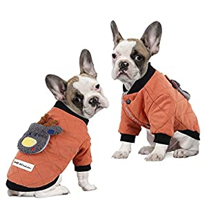 voopet Dog Jacket, Warm Winter Coat for Dogs – Soft Fleece Lining Costume, Reflective Windproof Snowproof Winter Padded Vest Clothes for Small and Medium Dogs