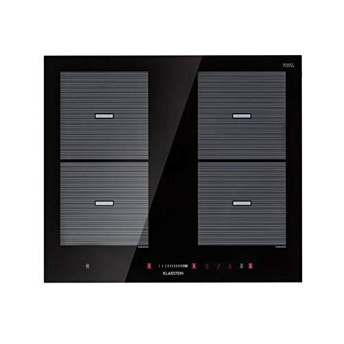 Klarstein Virtuosa Flex 60 Placa de inducción - 4 zonas de cocción , 7200W , Vitrocerámica , Encastrable , ThermoBoost , Flexzone , Temporizador , ...