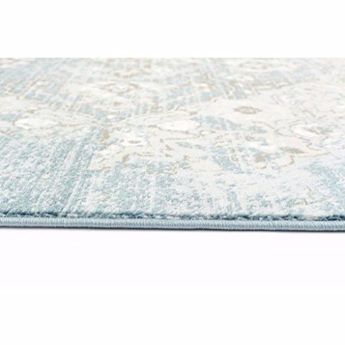4620 Distressed Blue 5'2x7'2 Area Rug Carpet Large New