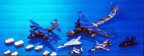Lockheed AC-130,C-141,F117,etc. (Plastic model) PIT-ROAD 1/700 Aircraft