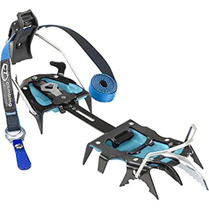 Image of Carabiners & Quickdraws Climbing Technology Hyper-Spike, Unisex Crampon - Adult, Blue, Adjustable Size