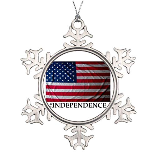 Boyce22Par Personalized Family Christmas Snowflake Ornaments 4th of July Images of Christmas Decorations Independence