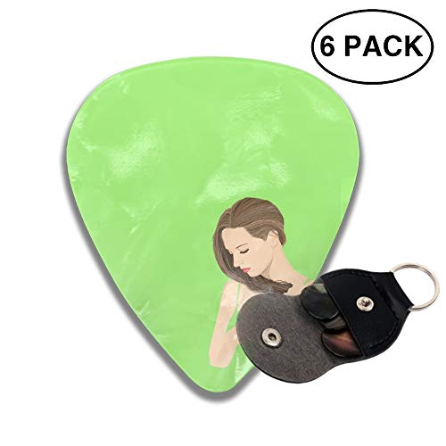Celluloid Guitar Picks 3D Printed Artistic Human Woman Brunette Best Guitar Bass Gift for ()