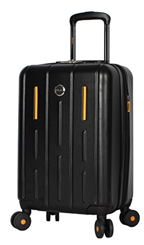 "Lucas Luggage Hard Case Carry On 20"" Expandable Suitcase With Spinner Wheels (20in, Genesis Black)"