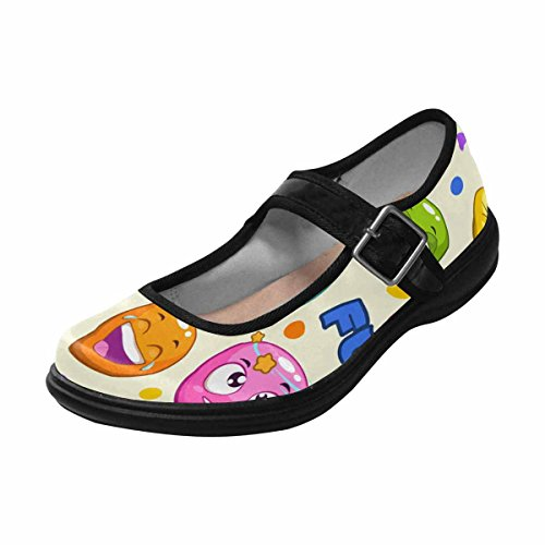 14 Shoes Walking InterestPrint Comfort Mary Jane Womens Multi Casual Flats 4z0AqY