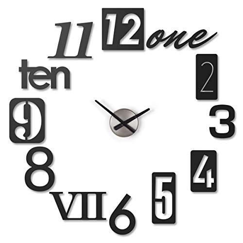 Umbra Numbra Wall Clock, Black (Jordan Wall Clock)