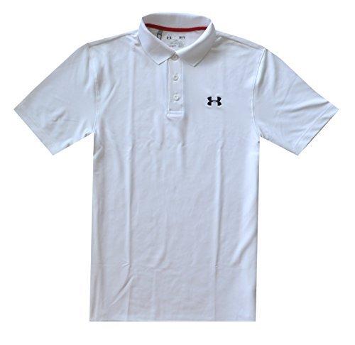 Under Armour Men UA Golf Performance Logo Polo T-Shirt (XL, White)