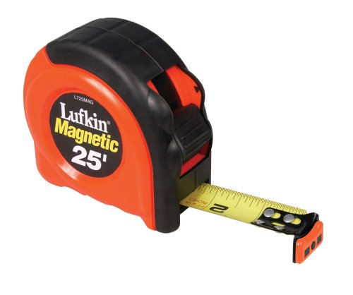 Lufkin L725MAG 1-Inch x 25 Power Return Tape Measure with Magnetic End Hook from Apex Tool Group