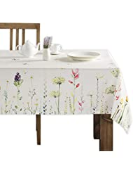 Maison d' Hermine Botanical Fresh 100% Cotton Tablecloth 60 Inch by 90 Inch