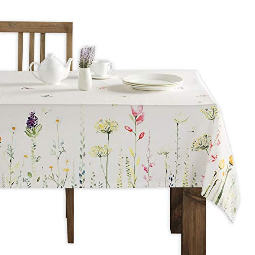 Maison d' Hermine Botanical Fresh 100% Cotton Tablecloth 60 Inch by 108 Inch (Best Stain Remover For Clothes In India)