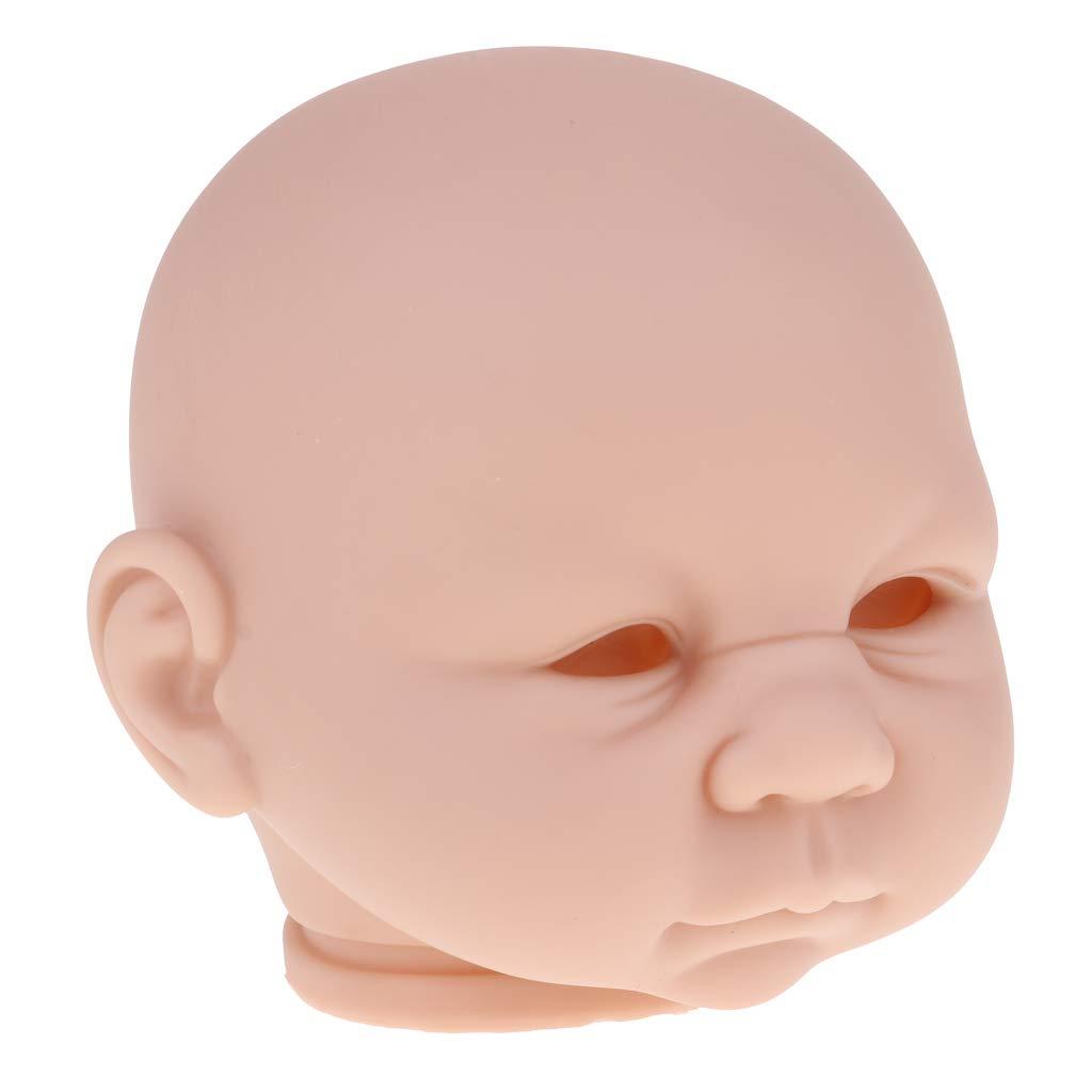 MagiDeal 18 Pulgadas De Vinilo Sin Pintar Reborn Doll Head Mould En Blanco Kits De Beb/é DIY Hacer Accs #4