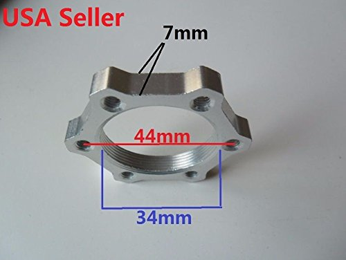 Disc brake rotor adaptor mount Diameter ISO 44mm left thread nut Alum for Bicycle / Scooter / E-bike double ()