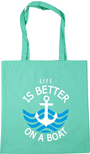x38cm Tote Shopping Bag 10 Mint Beach Gym is HippoWarehouse a Life litres on 42cm boat better 7Ypqa