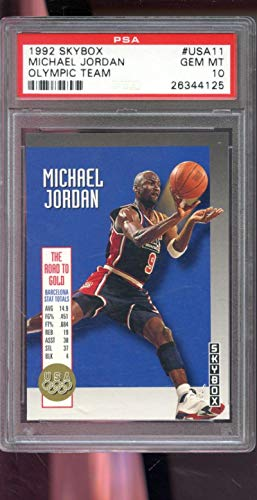(1992-93 Skybox Olympic Team #USA11 Michael Jordan PSA 10 Graded Basketball Card)