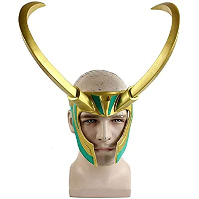 Bulex Loki Helmet with Horns, Norse God Loki Crown from Thor Ragnarok for Halloween Loki mask : Sports & Outdoors