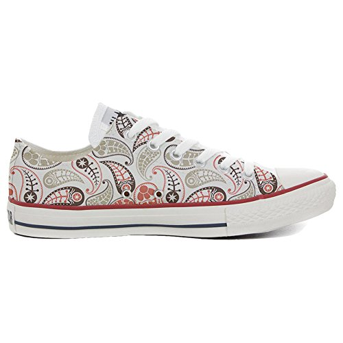 Converse All Star Slim Customized personalisierte Schuhe (Handwerk Schuhe) Vintage Paisley