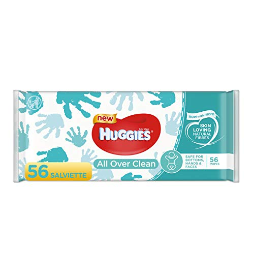 HUGGIES Baby Wipes, All Over Clean, 3 Refills With Resealable Tape Top, 168CT