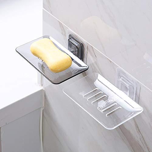 Librae 1pc Soap Dishes Drain Sponge Holder Bathroom Organizer Wall Mounted Storage Rack Soap Box Kitchen Hanging Shelf