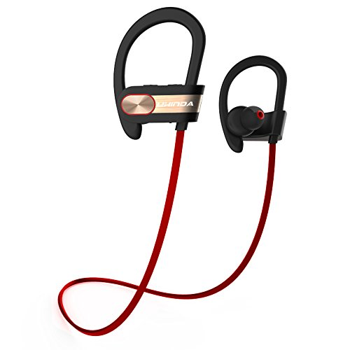 Bluetooth Headphones, UKINDA Bluetooth 4.1 Wireless Sport Earbuds HD Sound Quality IPX4 Sweatproof In-Ear Noise Cancelling Headset with Mic for Running Gym Jogging Workout